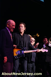Yogi Berra, Bruce Springsteen and Danny DeVito at NJ Hall of Fame
