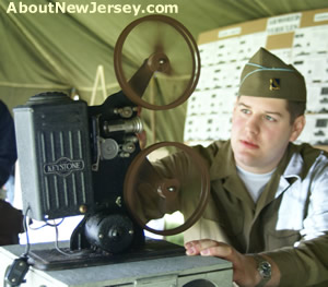 World War II Film Projector at NJ History Fair