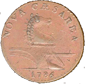 Nova Ceasarea - New Jersey 1786 copper coin