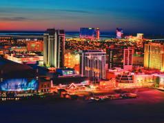 Atlantic City Skyline - evening - Copyright Bob Krist