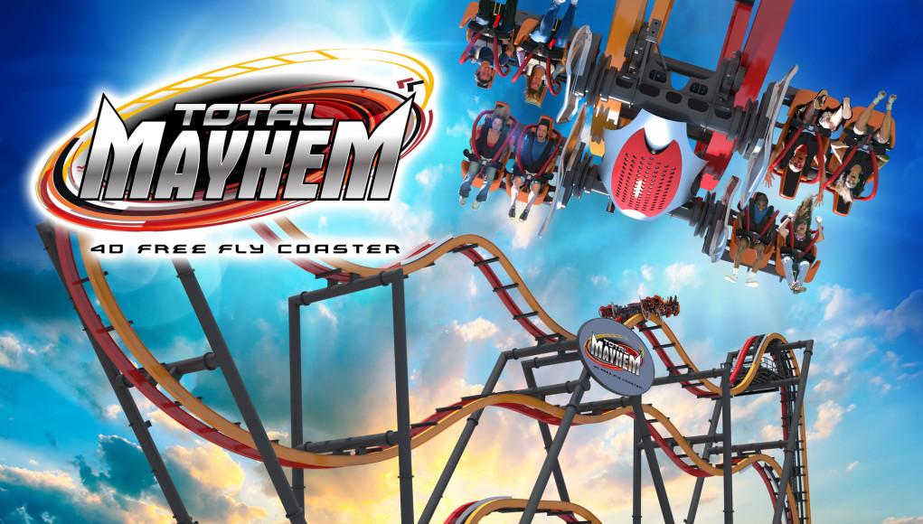 Total Mayhem: 40 Free Fly Coaster - Six Flags Great Adventure