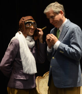 Lea Antolini as Arista and David Cantor as Chrysale in the CSC production of The Learned Ladies,