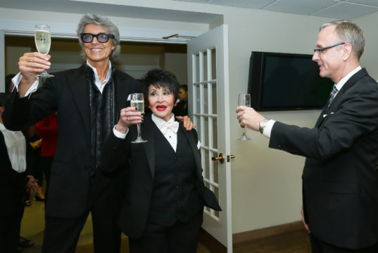 Tommy Tune and Chita Rivera, with Kean Stage Manager Steve Cochran