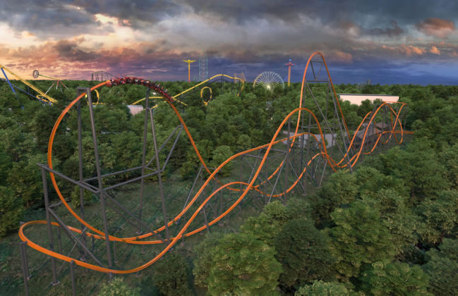 Jersey Devil Coaster - Six Flags Great Adventure - Wide Show